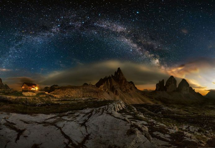 Photo wallpapers Galaxy Dolomites | Shop online